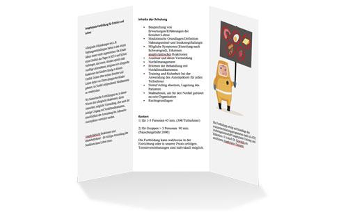 Flyer Anaphylaxie-Schulung Lehrer & Erzieher